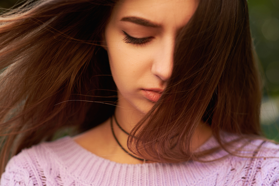 young woman when emotions overwhelm you